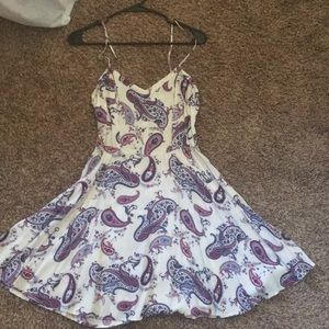 Paisley patterned white summer dress